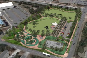 aerial of dowdy park plan